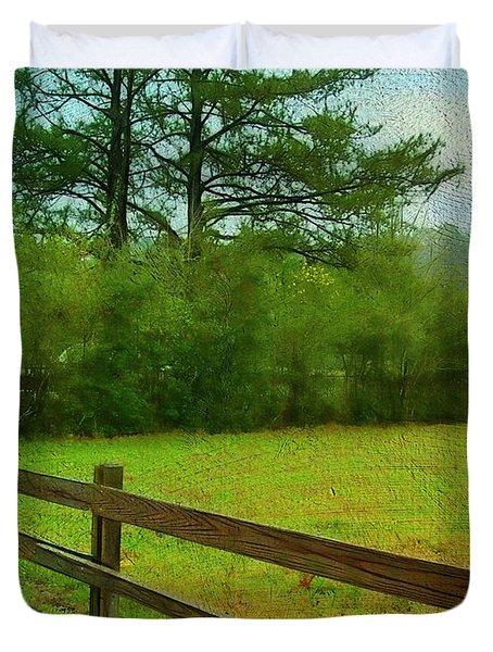Pastureland Duvet Cover by Judi Bagwell