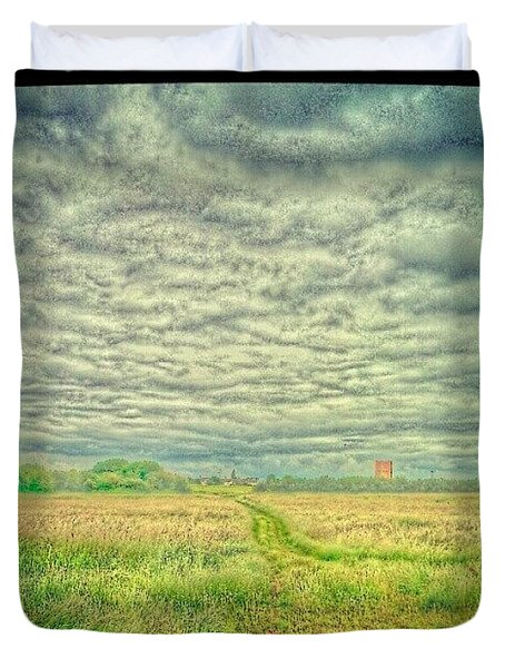 Path Through The Field Duvet Cover