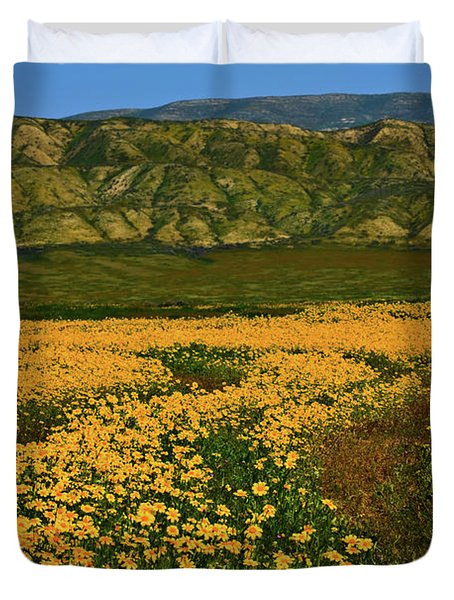 Path Through The Wildflowers Duvet Cover