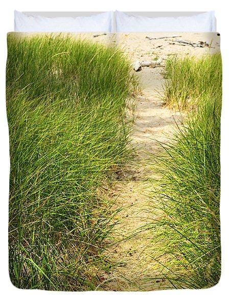 Path To Beach Duvet Cover