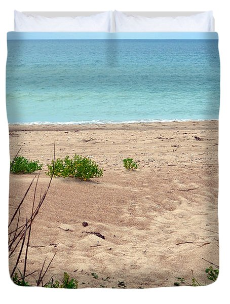 Pathway To The Beach Duvet Cover by Sandi OReilly