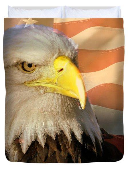Patriotic Eagle Duvet Cover by Marty Koch