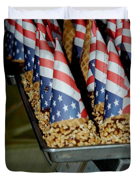 Patriotic Treats Virginia City Nevada Duvet Cover by LeeAnn McLaneGoetz McLaneGoetzStudioLLCcom