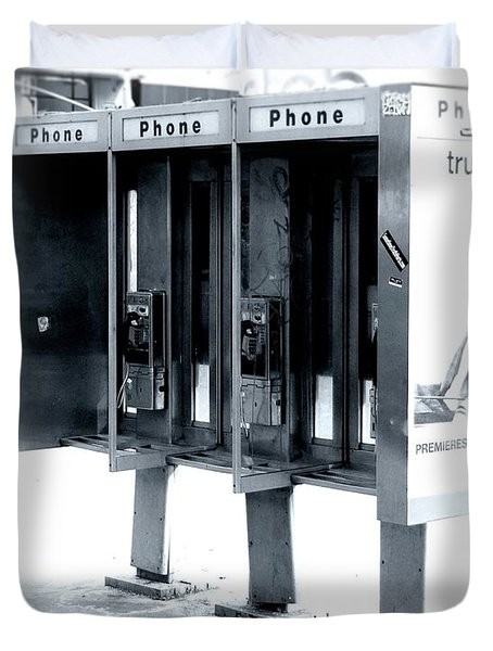 Pay Phones - Still In Nyc Duvet Cover