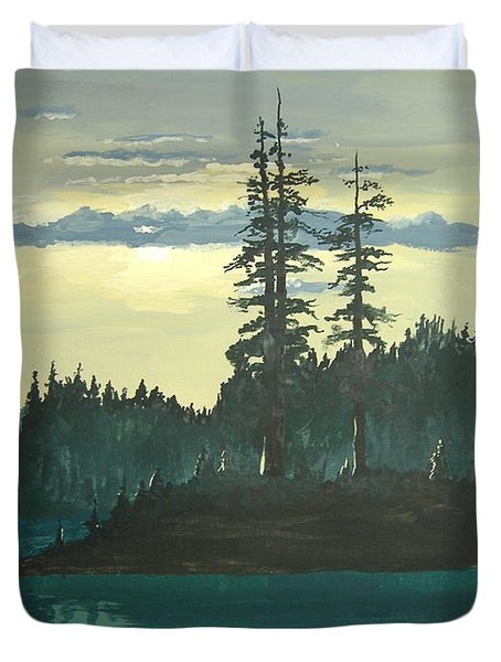 Peace And Quiet Duvet Cover by Norm Starks