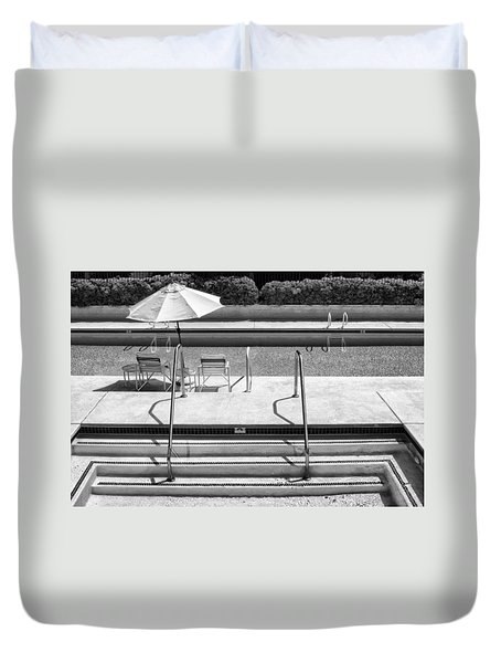 Peaceful Oasis Bw Palm Springs Duvet Cover