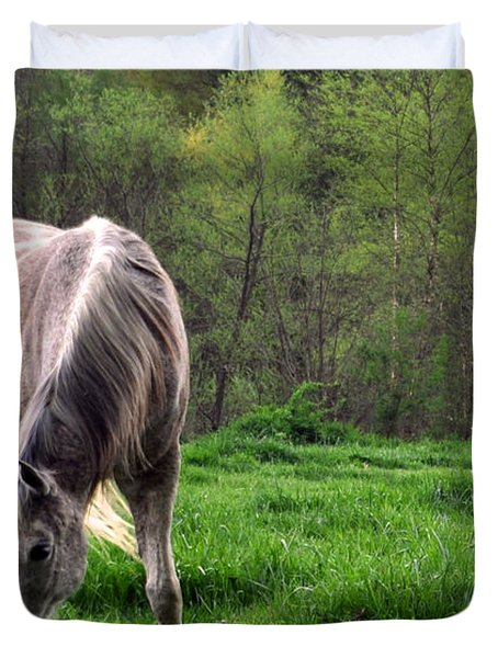Peaceful Pasture Duvet Cover by Lydia Holly