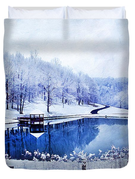 Peaceful Winters Day Duvet Cover by Darren Fisher