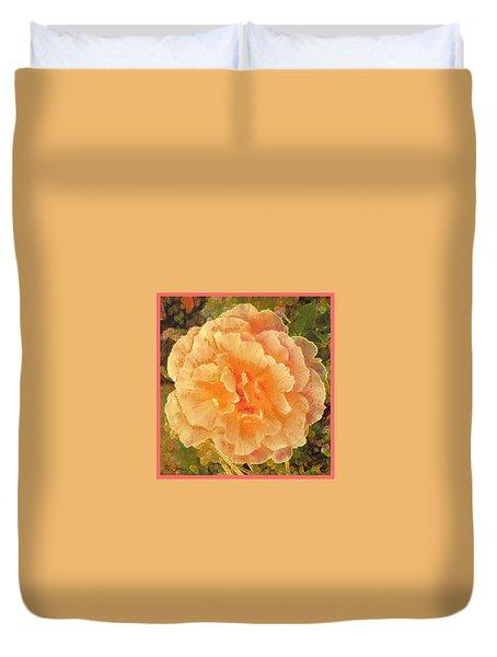 Peach Begonia Duvet Cover