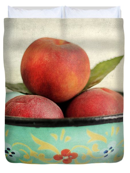 Peaches Duvet Cover by Darren Fisher