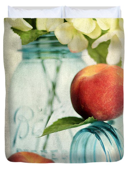 Peachy Duvet Cover by Darren Fisher