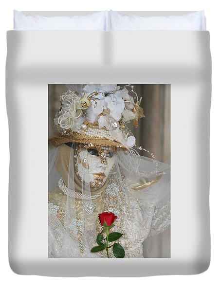 Pearl Bride With Rose 2 Duvet Cover