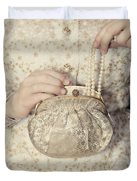 Pearls Duvet Cover by Joana Kruse