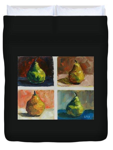 Pears,peru Impression Duvet Cover