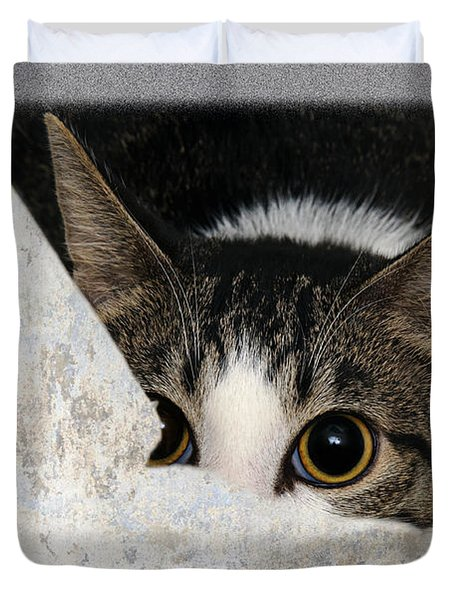 Peek A Boo I See You Too Duvet Cover by Andee Design