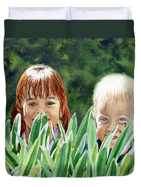 Peekaboo Duvet Cover by Irina Sztukowski
