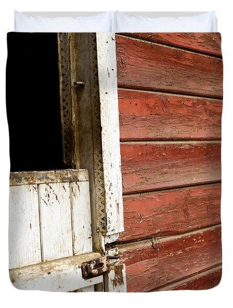 Duvet Cover featuring the photograph Peeling Paint by Lorraine Devon Wilke