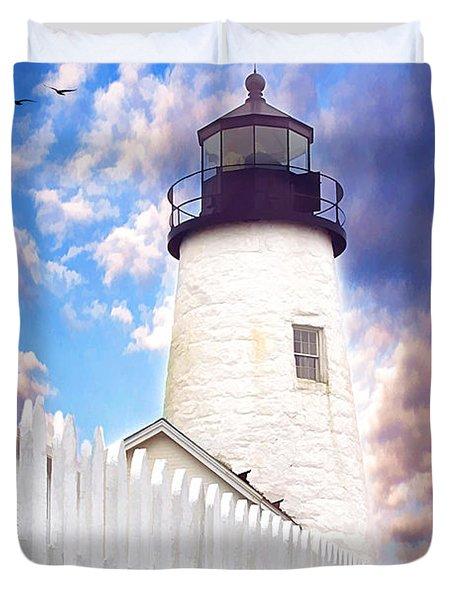 Pemaquid Point Duvet Cover by Darren Fisher