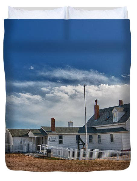 Pemaquid Point Lighthouse 4800 Duvet Cover by Guy Whiteley