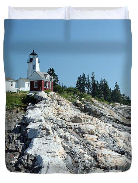 Pemaquid Point Lighthouse Duvet Cover by Ted Kinsman
