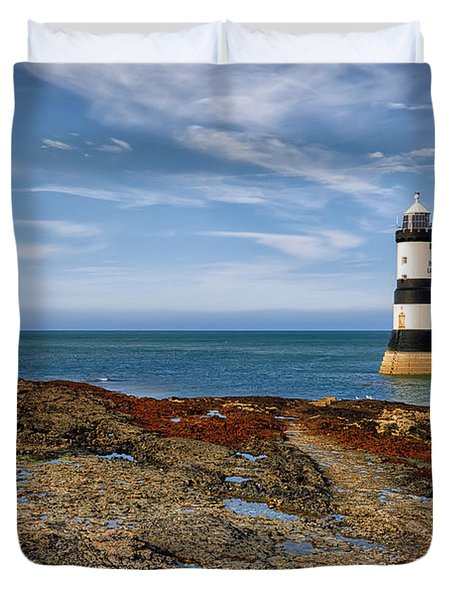 Penmon Point Lighthouse Duvet Cover by Adrian Evans