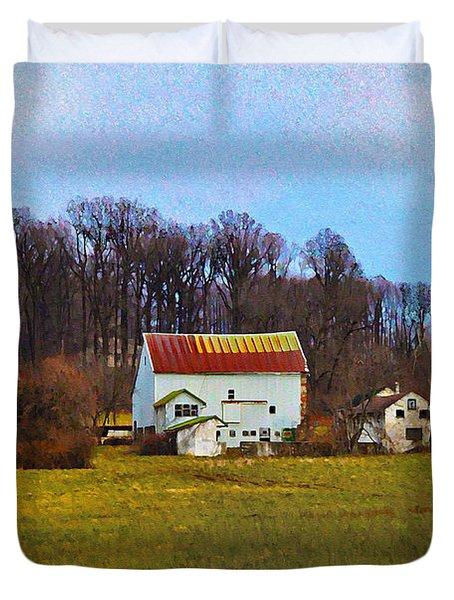 Pennsylvaina Farm Scene Duvet Cover by Bill Cannon