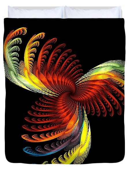 Pens Of Angels Duvet Cover by Klara Acel