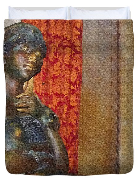 Pensive Statue Duvet Cover