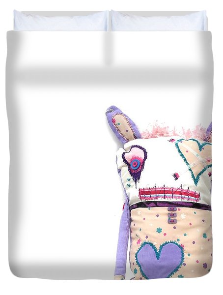 Percry Of The Cutie Patootie Zombie Bunny Twins Duvet Cover by Oddball Art Co by Lizzy Love