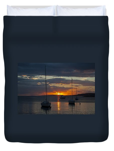 Perfect Ending In Puerto Rico Duvet Cover