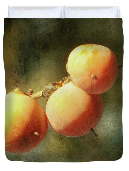 Persimmons Duvet Cover by Amy Tyler