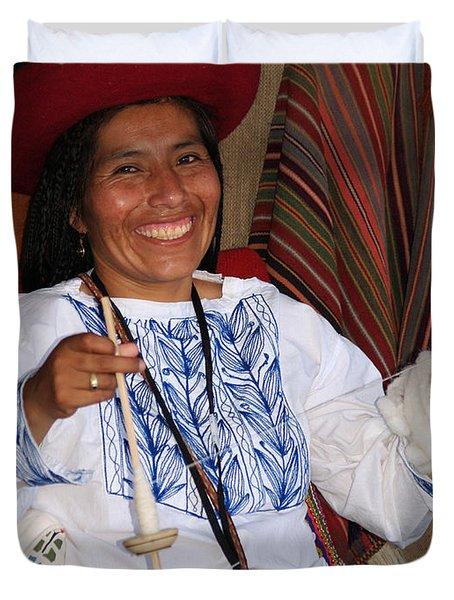 Peruvian Weaver Duvet Cover
