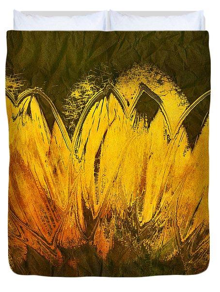 Petales De Soleil - A43t02b Duvet Cover by Variance Collections