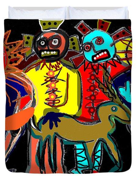 Petroglyph Duvet Cover
