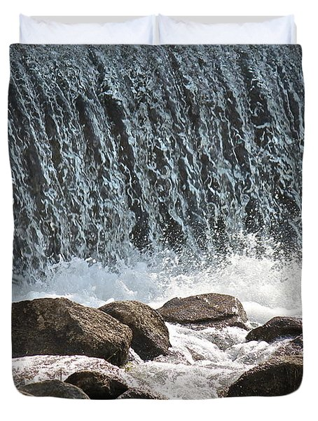 Duvet Cover featuring the photograph Phelps Mill Dam by Penny Meyers