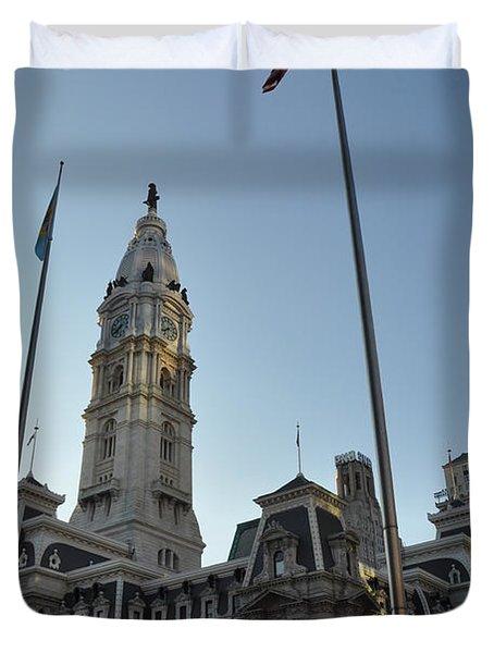 Philadelphia City Hall  Duvet Cover by Bill Cannon