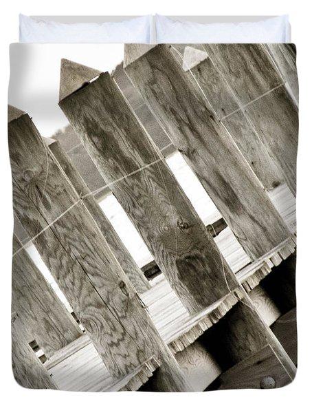 Phillies Dock Halladay Duvet Cover by Trish Tritz