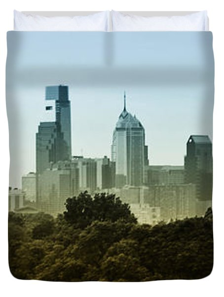 Philly Panorama Duvet Cover by Bill Cannon