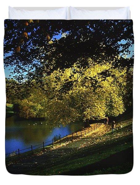 Phoenix Park, Dublin, Co Dublin, Ireland Duvet Cover by The Irish Image Collection