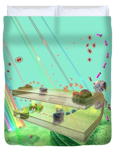 Duvet Cover featuring the digital art Photosynthesis by Russell Kightley
