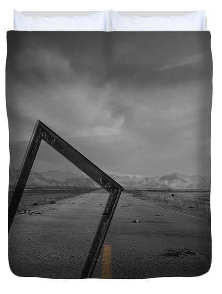Picturing The Road Ahead Duvet Cover by Jerry Cordeiro