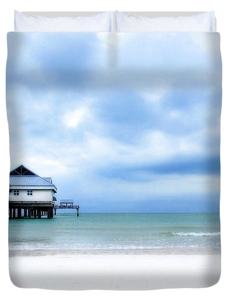 Pier 60 At Clearwater Beach Florida Duvet Cover