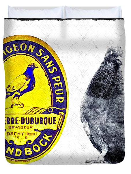 Pigeon Grand Bock Duvet Cover by Bill Cannon