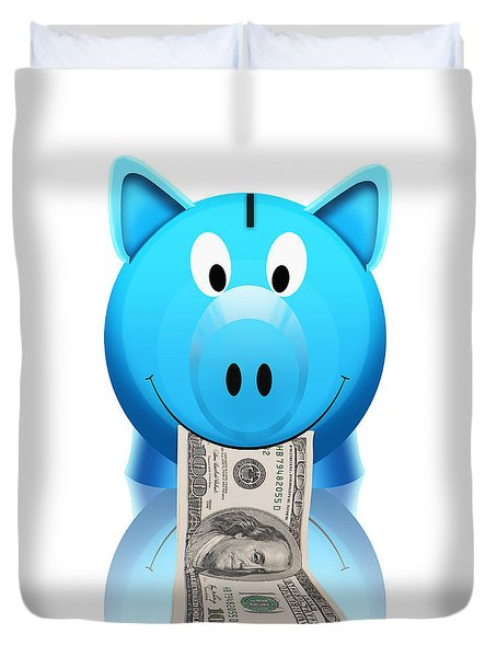 Piggy Bank Duvet Cover by Setsiri Silapasuwanchai