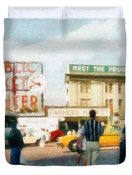 Pike Place Market Duvet Cover