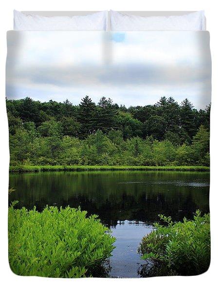 Pine Hole Pond Duvet Cover