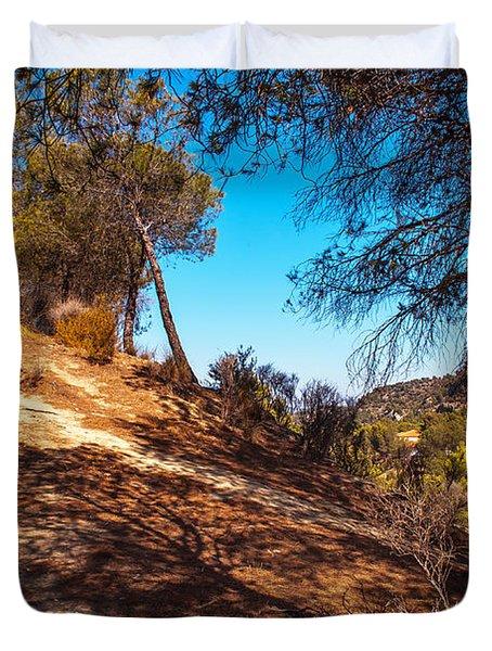 Pine Trees In El Chorro. Spain Duvet Cover by Jenny Rainbow