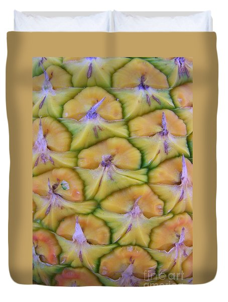 Pineapple Eyes Duvet Cover by Mary Deal