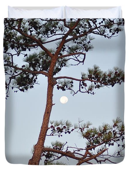 Piney Moon Duvet Cover