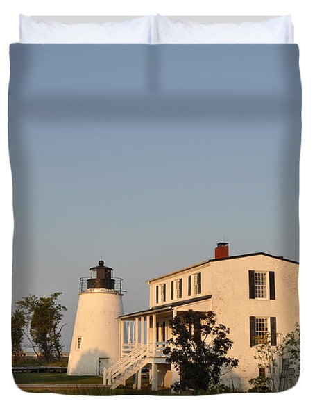 Piney Point Lighthouse Duvet Cover